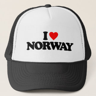 I LOVE NORWAY TRUCKER HAT