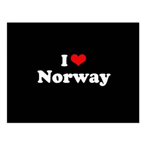 I Love Norway Tshirt Postcard