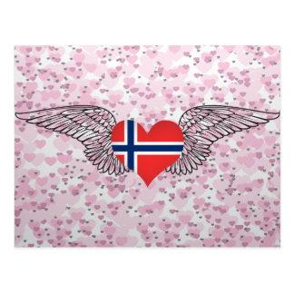 I Love Norway -wings Postcard