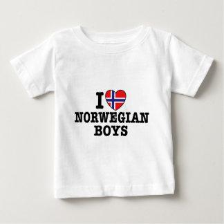 I Love Norwegian Boys Baby T-Shirt