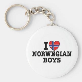 I Love Norwegian Boys Keychain
