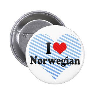 I Love Norwegian Pin