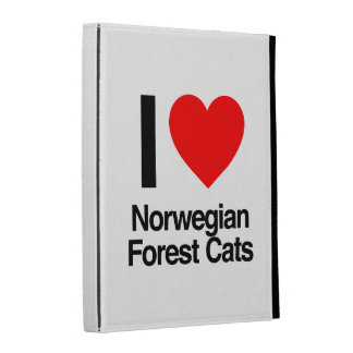 i love norwegian forest cats iPad folio covers