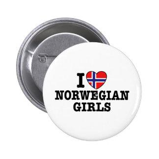 I Love Norwegian Girls Pins
