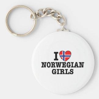 I Love Norwegian Girls Keychain