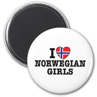 I Love Norwegian Girls Fridge Magnet