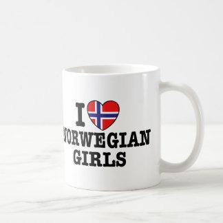 I Love Norwegian Girls Coffee Mugs