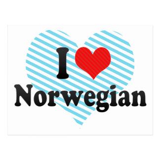 I Love Norwegian Postcard