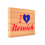 I Love Norwich, Kansas Gallery Wrapped Canvas
