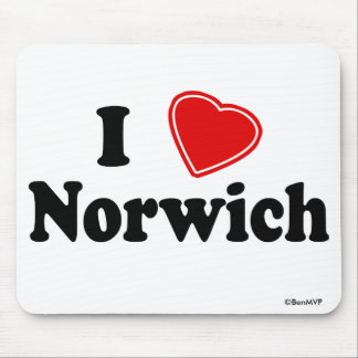 I Love Norwich Mouse Pad