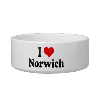 I Love Norwich, United Kingdom Cat Water Bowls