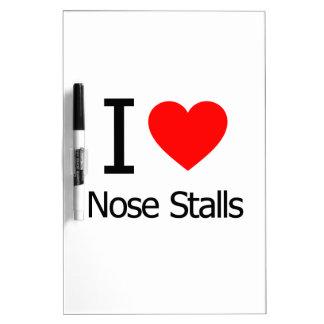 I Love Nose Stalls Dry Erase Boards