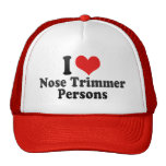I Love Nose Trimmer Persons Hats