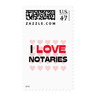 I LOVE NOTARIES POSTAGE