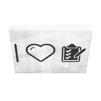 I Love Notepads Canvas Print
