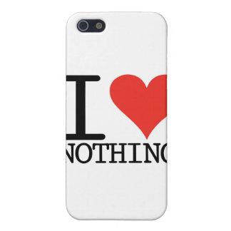 I Love Nothing iPhone SE/5/5s Case
