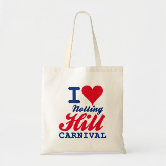 I LOVE NOTTING HILL CARNIVAL BUDGET TOTE BAG