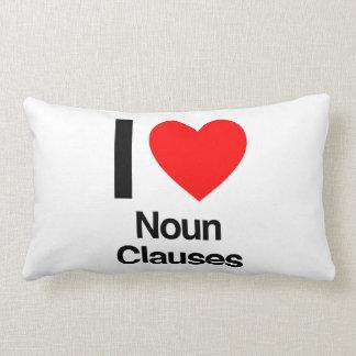 i love noun clauses pillow