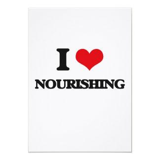 I Love Nourishing 5x7 Paper Invitation Card