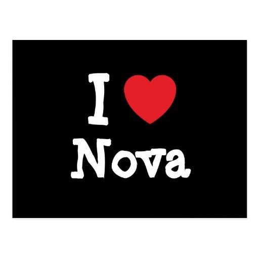 I love Nova heart T-Shirt Post Cards