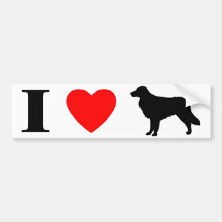 I Love Nova Scotia Duck Tolling Retrievers Bumper Sticker