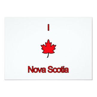 I Love Nova Scotia 5x7 Paper Invitation Card