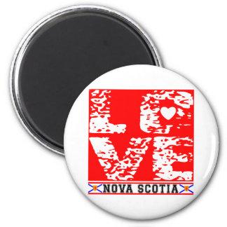 I Love Nove Scotia 2 Inch Round Magnet