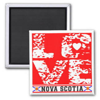 I Love Nove Scotia 2 Inch Square Magnet