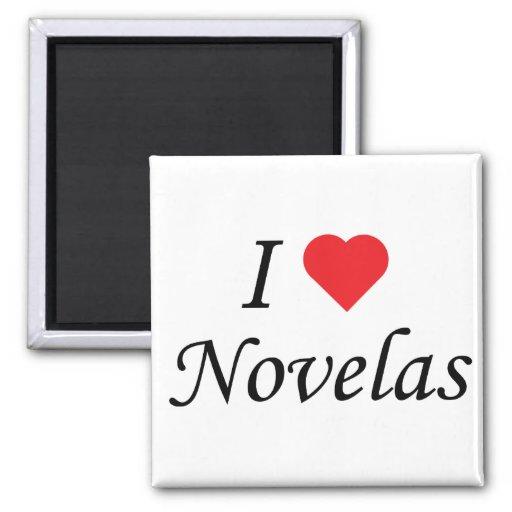 I Love Novelas 2 Inch Square Magnet