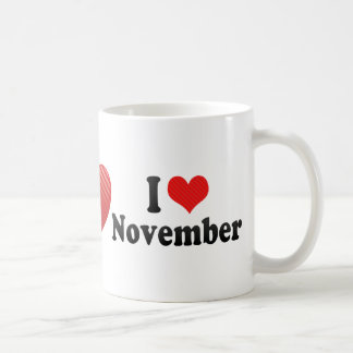 I Love November Classic White Coffee Mug