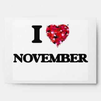 I Love November Envelopes