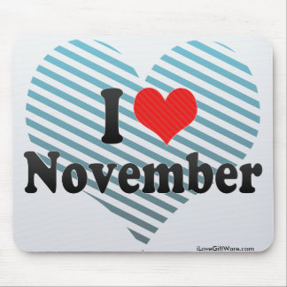 I Love November Mouse Pad