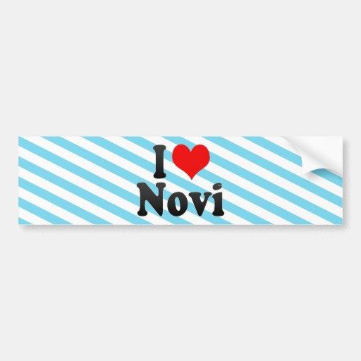 I Love Novi, United States Car Bumper Sticker