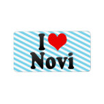 I Love Novi, United States Custom Address Label