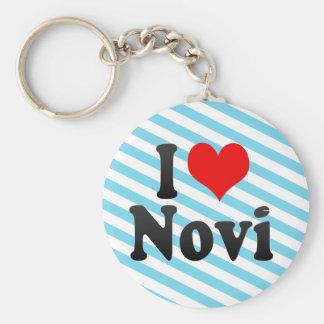 I Love Novi, United States Keychain