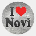 I Love Novi, United States Round Sticker