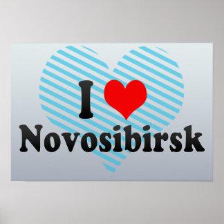 I Love Novosibirsk, Russia Posters
