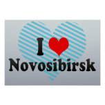 I Love Novosibirsk, Russia Posters