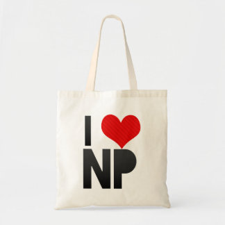 I Love NP Canvas Bags