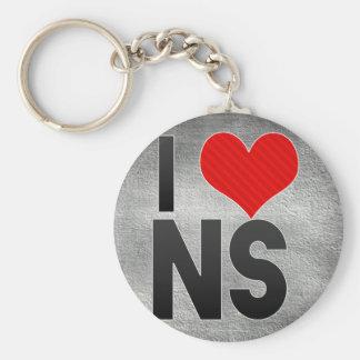 I Love NS Keychain