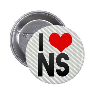 I Love NS Pin