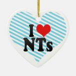 I Love NTs Christmas Tree Ornaments