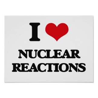 I Love Nuclear Reactions Poster