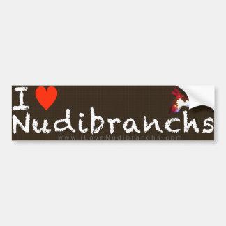 I Love Nudibranchs Bumper Sticker