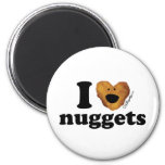 I love nuggets 2 inch round magnet