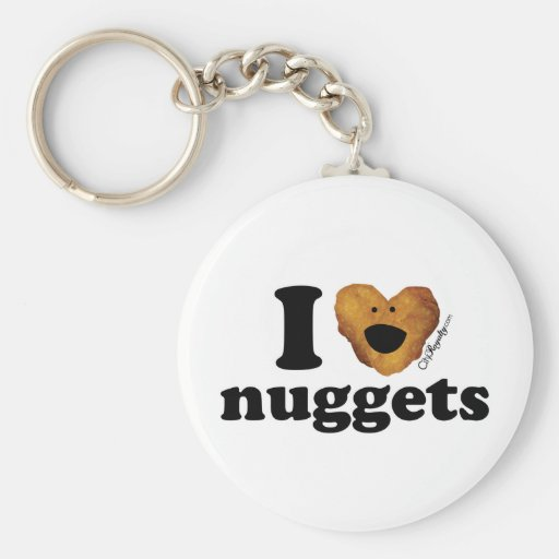 I love nuggets basic round button keychain