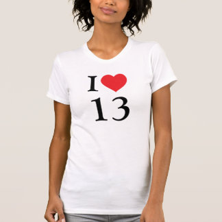 I love number 13 T-Shirt