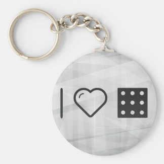 I Love Number Nines Basic Round Button Keychain