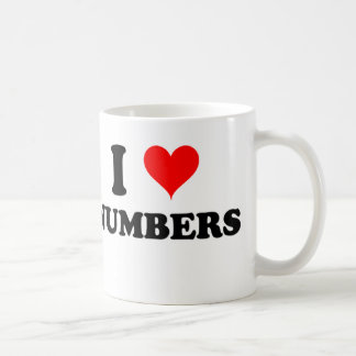 I Love Numbers Coffee Mug