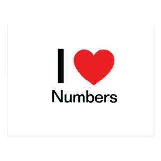 I Love Numbers Postcard